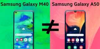 Samsung Galaxy M40 vs A50